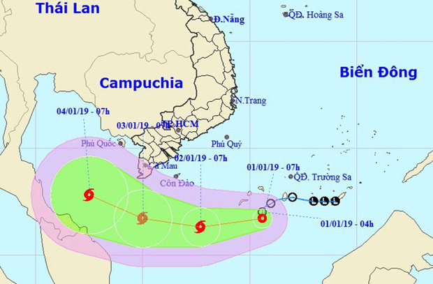 Áp thấp nhiệt đới tiến gần mũi Cà Mau, khả năng thành bão cấp 8 - Ảnh 1.