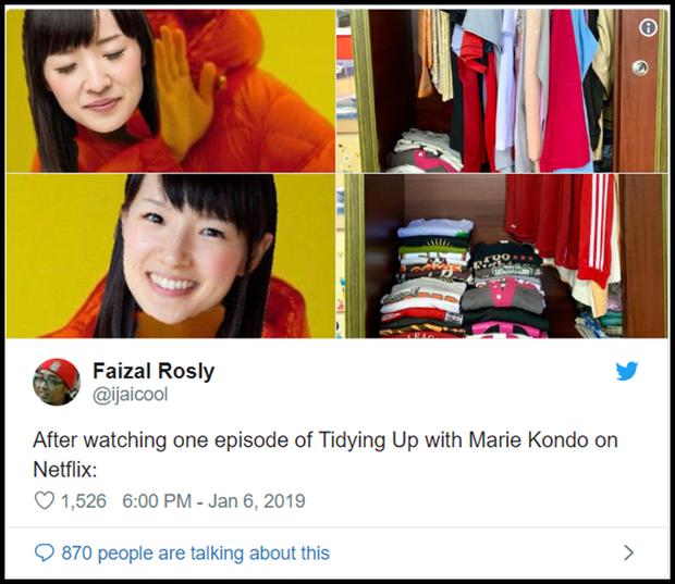 Cơn sốt mới trên Netflix: Dân chúng cuồng phim giờ lại đổ xô đi Dọn Dẹp Cùng Marie Kondo - Ảnh 9.