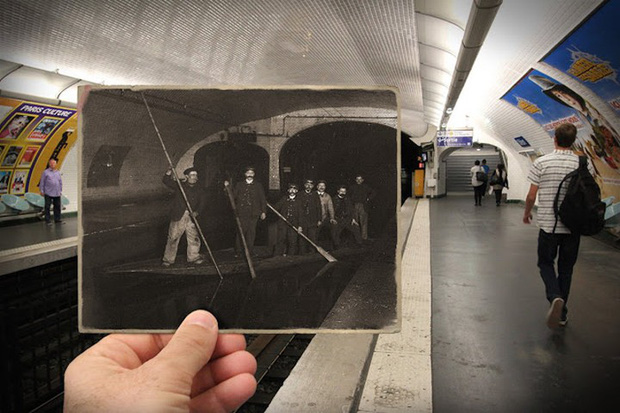 """Những bức ảnh """"xuyên thời gian"""" tái hiện Paris xưa và nay đầy sáng tạo - Ảnh 11."""