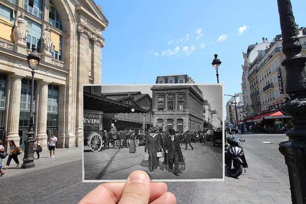 """Những bức ảnh """"xuyên thời gian"""" tái hiện Paris xưa và nay đầy sáng tạo - Ảnh 12."""