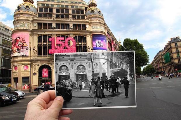 """Những bức ảnh """"xuyên thời gian"""" tái hiện Paris xưa và nay đầy sáng tạo - Ảnh 15."""