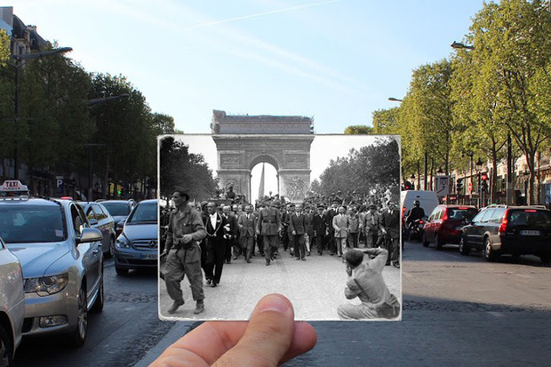 """Những bức ảnh """"xuyên thời gian"""" tái hiện Paris xưa và nay đầy sáng tạo - Ảnh 16."""