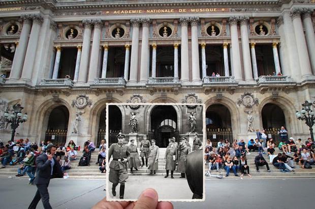 """Những bức ảnh """"xuyên thời gian"""" tái hiện Paris xưa và nay đầy sáng tạo - Ảnh 17."""