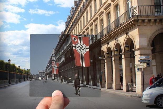 """Những bức ảnh """"xuyên thời gian"""" tái hiện Paris xưa và nay đầy sáng tạo - Ảnh 18."""