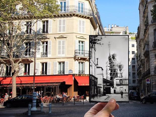 """Những bức ảnh """"xuyên thời gian"""" tái hiện Paris xưa và nay đầy sáng tạo - Ảnh 3."""