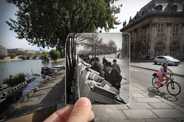 """Những bức ảnh """"xuyên thời gian"""" tái hiện Paris xưa và nay đầy sáng tạo - Ảnh 6."""
