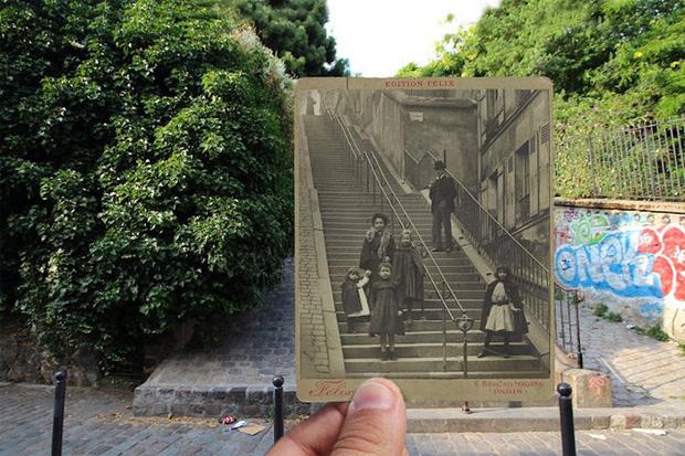 """Những bức ảnh """"xuyên thời gian"""" tái hiện Paris xưa và nay đầy sáng tạo - Ảnh 7."""