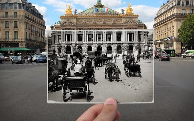 """Những bức ảnh """"xuyên thời gian"""" tái hiện Paris xưa và nay đầy sáng tạo - Ảnh 8."""