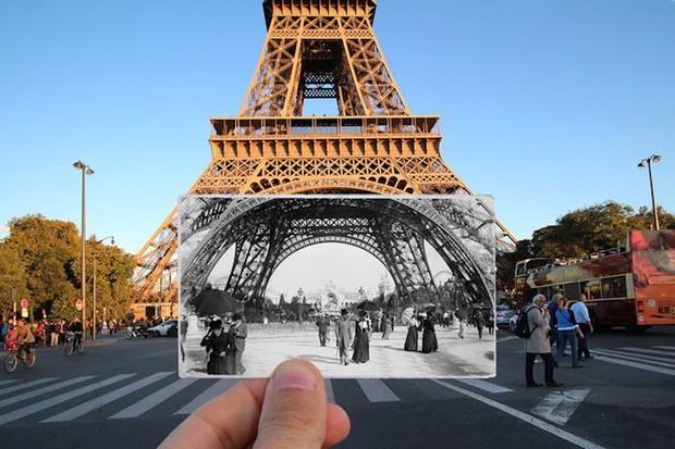 """Những bức ảnh """"xuyên thời gian"""" tái hiện Paris xưa và nay đầy sáng tạo - Ảnh 9."""