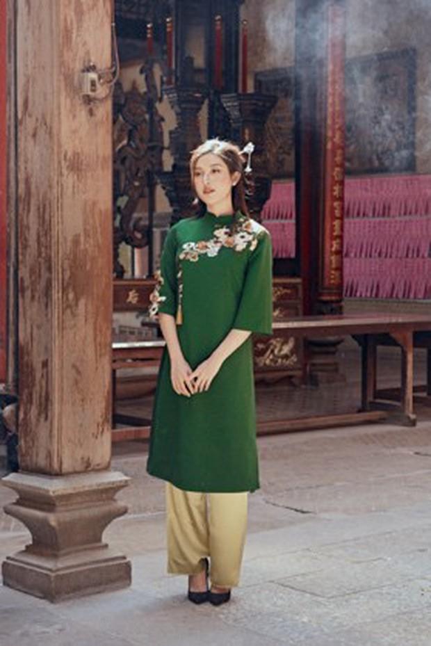 Huyền My đẹp mơ màng trong tà áo dài của Oceana London - Ảnh 6.
