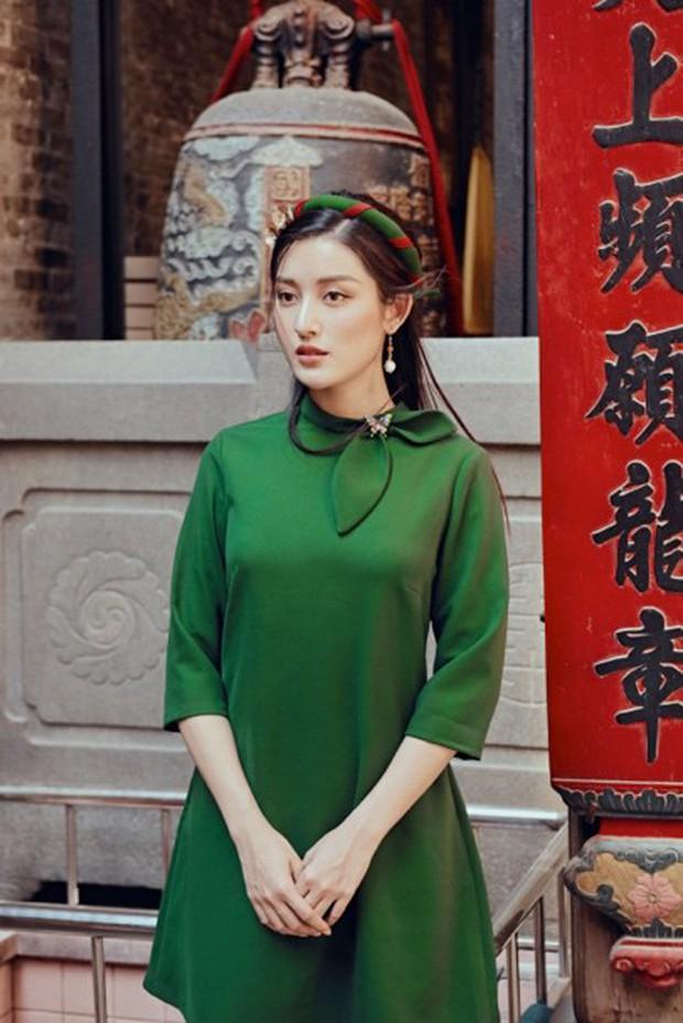 Huyền My đẹp mơ màng trong tà áo dài của Oceana London - Ảnh 7.