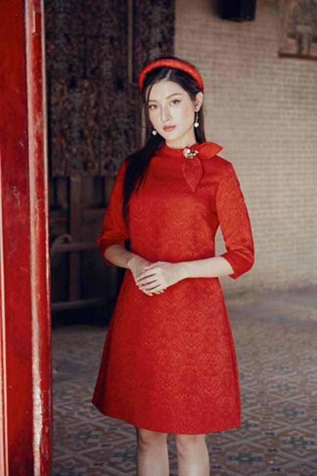 Huyền My đẹp mơ màng trong tà áo dài của Oceana London - Ảnh 8.