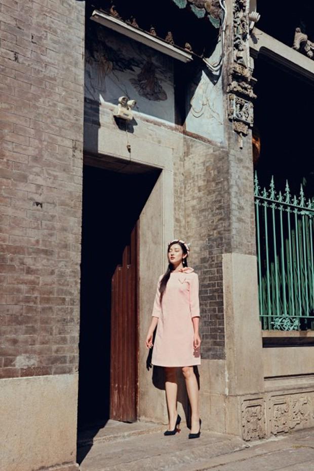 Huyền My đẹp mơ màng trong tà áo dài của Oceana London - Ảnh 9.