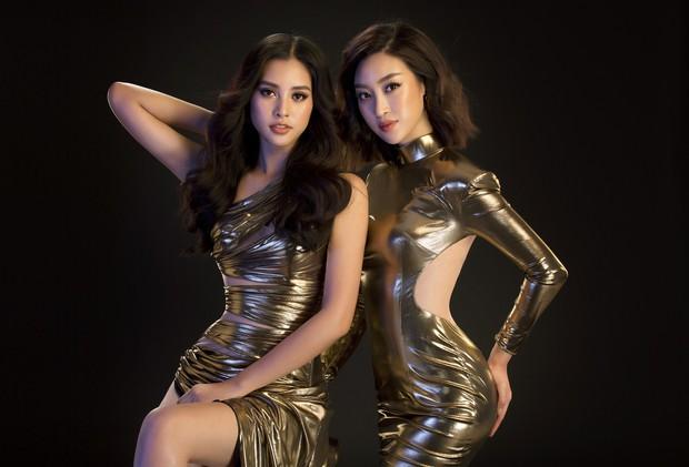 Mới đăng quang, Tiểu Vy đã diện váy xẻ siêu cao, đọ sắc với Đỗ Mỹ Linh mặc đầm cut-out xéo sắc - Ảnh 1.