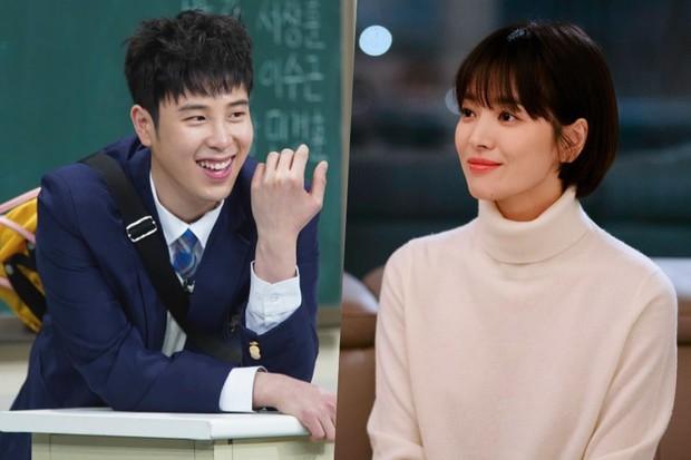 Chỉ bằng một nụ cười, Song Hye Kyo khiến fan boy đơ người đến nỗi quên luôn lời thoại - Ảnh 2.