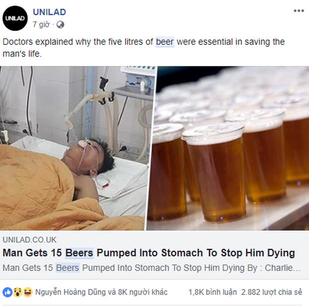 Báo chí quốc tế rầm rộ đưa tin về người đàn ông Việt Nam được truyền 15 lon bia vào cơ thể để giải độc rượu - Ảnh 4.
