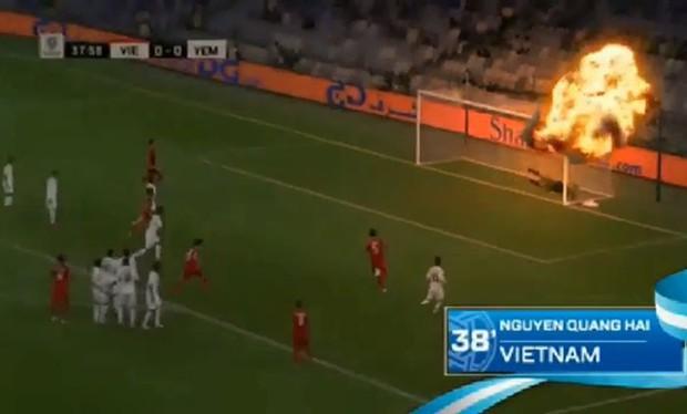 Tạo hiệu ứng nhạy cảm cho siêu phẩm đá phạt của Quang Hải, AFC bị chỉ trích thậm tệ, buộc phải xóa video - Ảnh 1.