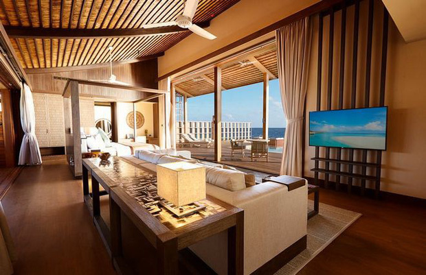 Tham quan khu nghỉ dưỡng xa hoa trên đảo nhân tạo với hệ thống pin Mặt Trời ngay trên mái nhà tại Maldives - Ảnh 14.