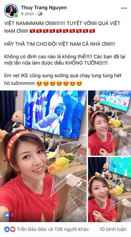 Hà Tăng, HHen Niê... đồng loạt chúc mừng đội tuyển Việt Nam giành vé vào tứ kết Asian Cup 2019 - Ảnh 5.