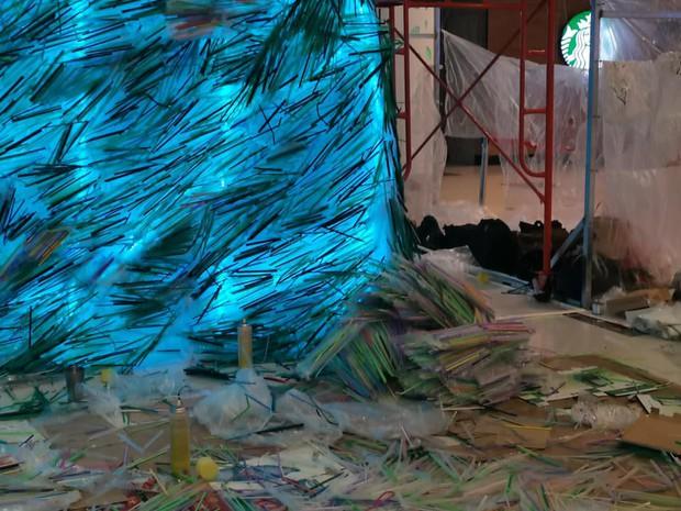 Tranh cãi xoay quanh việc MC Thuỳ Minh tố dự án cộng đồng dùng ống hút nhựa mới dựng triển lãm - Ảnh 4.