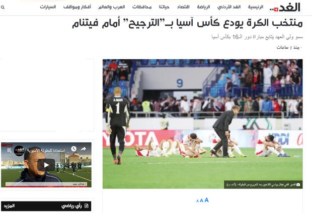 Báo chí Jordan ngậm ngùi đưa tin về trận thua trước đội tuyển Việt Nam - Ảnh 1.