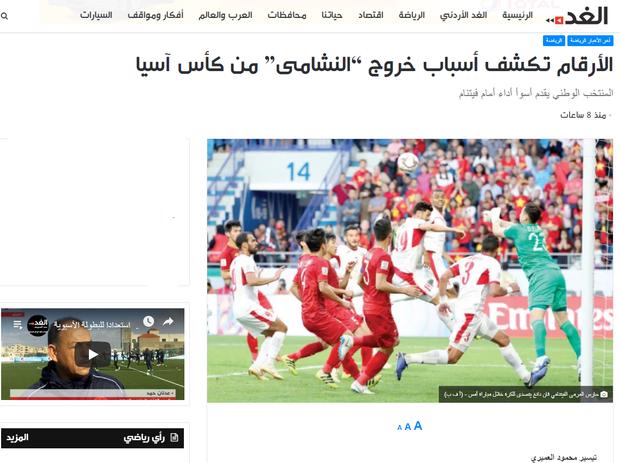 Báo chí Jordan ngậm ngùi đưa tin về trận thua trước đội tuyển Việt Nam - Ảnh 4.