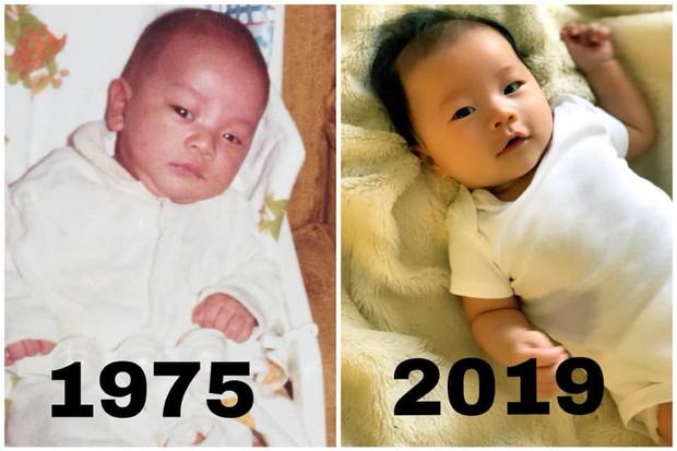 Con trai mới sinh giống Victor Vũ phiên bản 1975 đến nỗi có người phải thốt lên: Đúng là photocopy! - Ảnh 1.