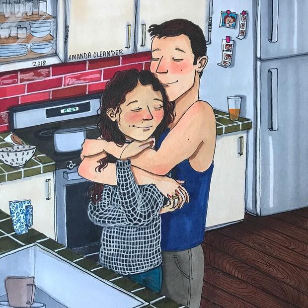 Bộ tranh: Có những lãng mạn đầy đơn giản mà chỉ những cặp đôi yêu nhau mới hiểu - Ảnh 1.