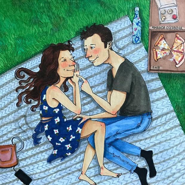 Bộ tranh: Có những lãng mạn đầy đơn giản mà chỉ những cặp đôi yêu nhau mới hiểu - Ảnh 5.