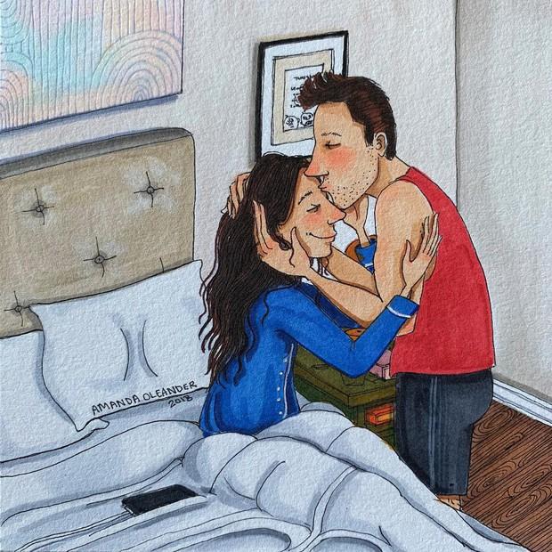 Bộ tranh: Có những lãng mạn đầy đơn giản mà chỉ những cặp đôi yêu nhau mới hiểu - Ảnh 9.