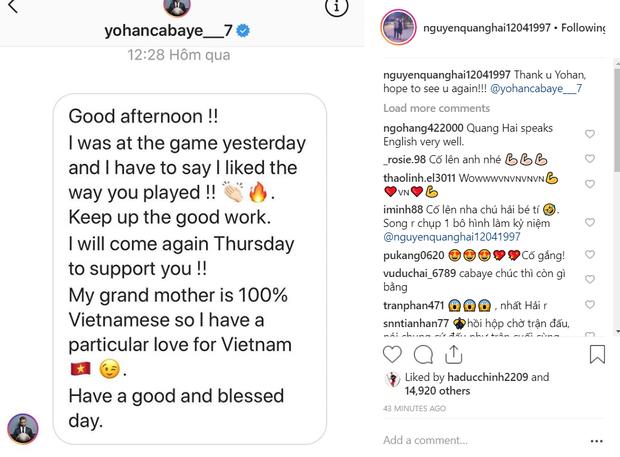 Quang Hải nhận tin nhắn chúc mừng đặc biệt từ ngôi sao bóng đá Pháp gốc Việt từng là Á quân Châu Âu - Ảnh 2.