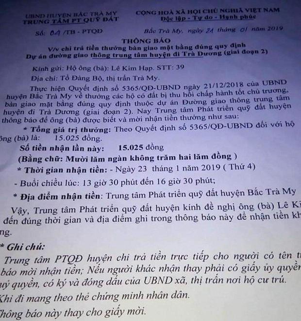 Quảng Nam: Xôn xao việc khen thưởng 15.025 đồng - Ảnh 1.
