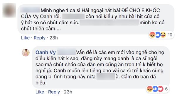 Vy Oanh bức xúc về việc nghệ sĩ tiền bối cover hit của đàn em, dân mạng nghi đá xéo Minh Tuyết - Ảnh 2.