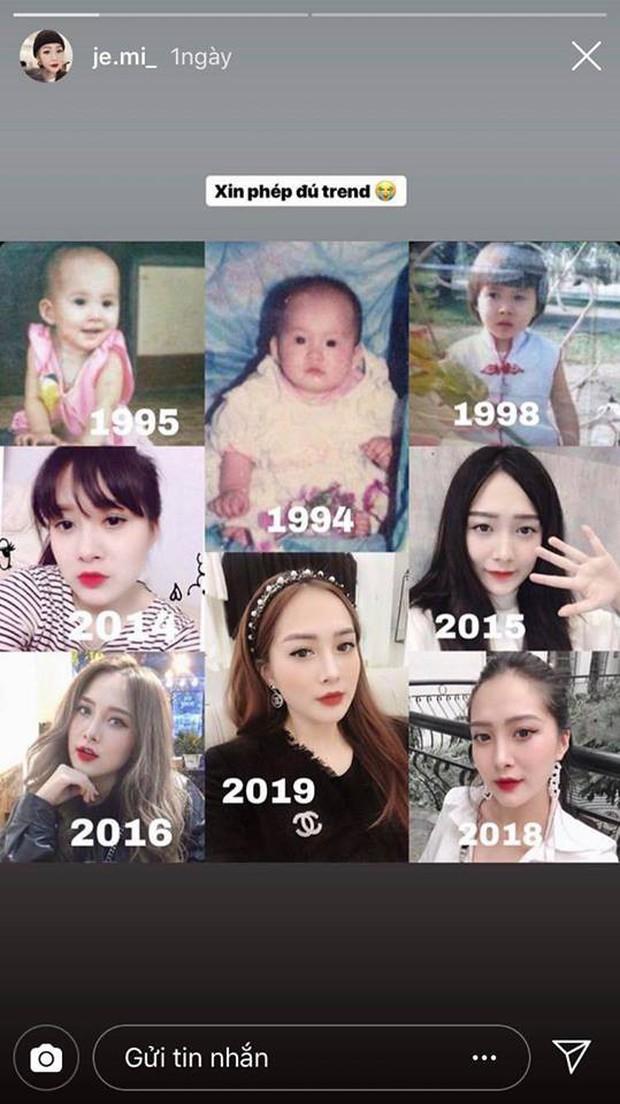Em họ Hương Tràm tung ảnh theo trend Thử thách 10 năm, chứng minh nhan sắc xinh từ bé - Ảnh 2.