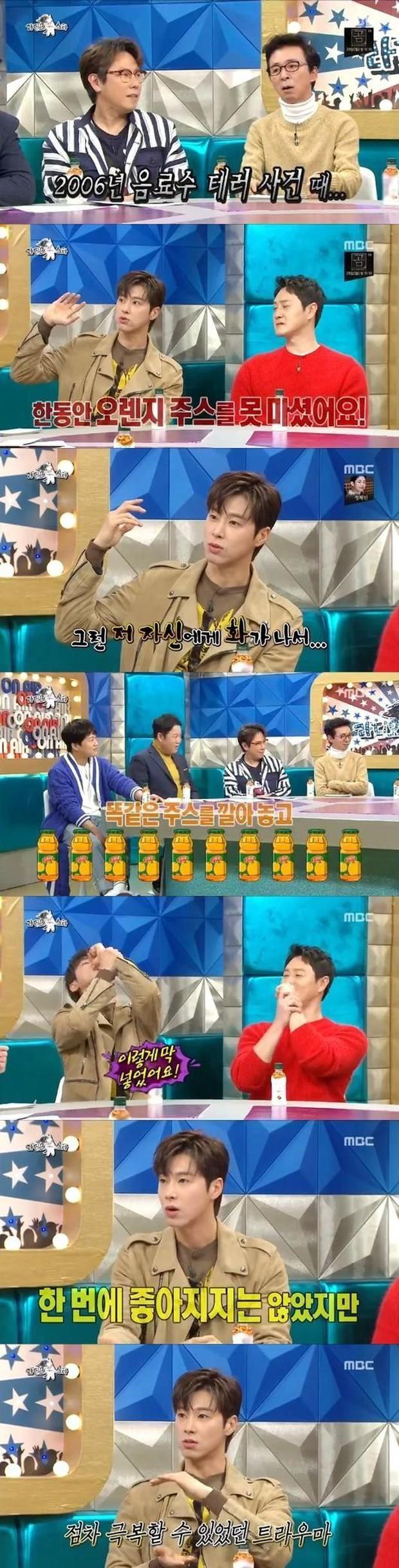 Yunho (DBSK) đã vượt qua nỗi ám ảnh với nước cam sau khi bị đầu độc vào năm 2006 như thế nào? - Ảnh 2.