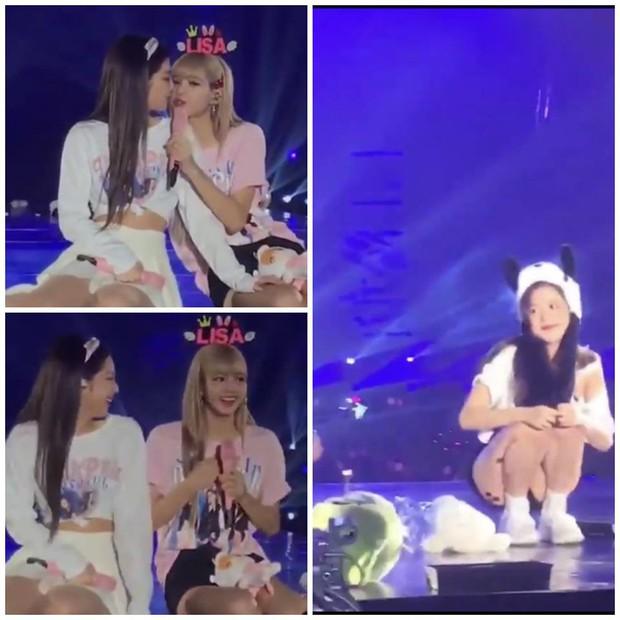 Khoảnh khắc vàng: Fan phát sốt khi 2 thành viên Black Pink suýt hôn môi nhau trên sân khấu concert - Ảnh 4.