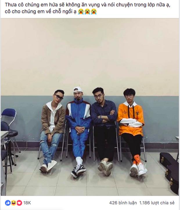 Bức ảnh lớp học trong mơ gây sốt MXH: Có 4 nghệ sĩ đình đám, trong đó 2 người hot nhất giới Underground - Ảnh 3.