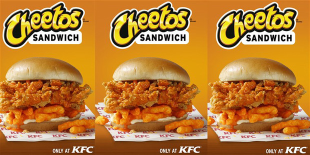 KFC ra mắt loại sandwich mới kẹp toàn gà rán và bim bim Cheetos - Ảnh 4.