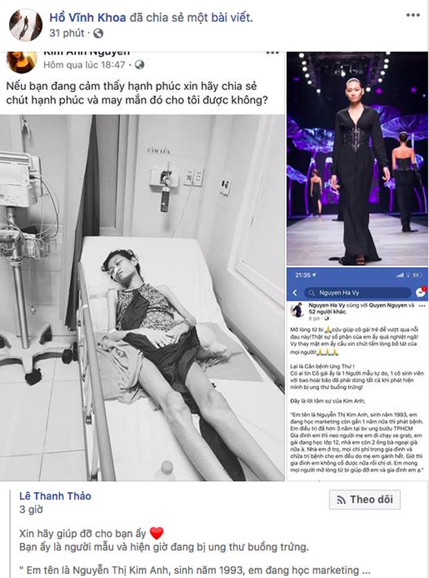 HHen Niê, Lê Thúy và sao Vbiz kêu gọi hỗ trợ người mẫu trẻ 3 năm chống chọi với căn bệnh ung thư - Ảnh 3.