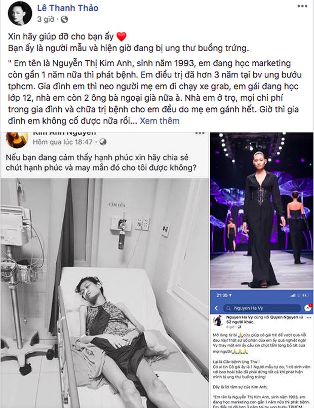 HHen Niê, Lê Thúy và sao Vbiz kêu gọi hỗ trợ người mẫu trẻ 3 năm chống chọi với căn bệnh ung thư - Ảnh 4.