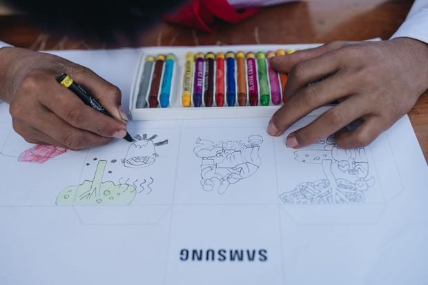 Trẻ em Tri Lễ vẽ nên ngàn ước mơ giữa núi rừng - Ảnh 3.