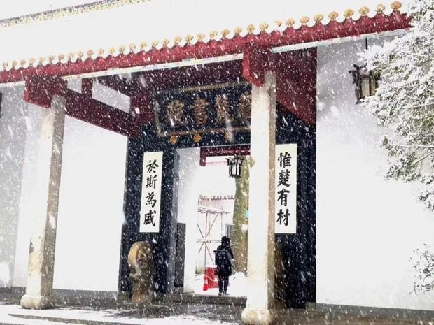 Tuyết rơi trắng trời tạo nên khung cảnh đẹp nao lòng tại các trường đại học - Ảnh 1.