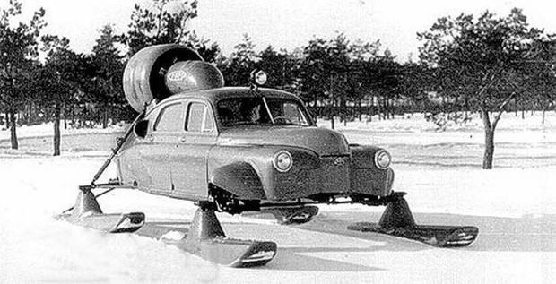 Xe ô tô trượt địa hình bằng động cơ máy bay của Liên Xô – như viễn tưởng mà hóa ra là có thật - Ảnh 1.