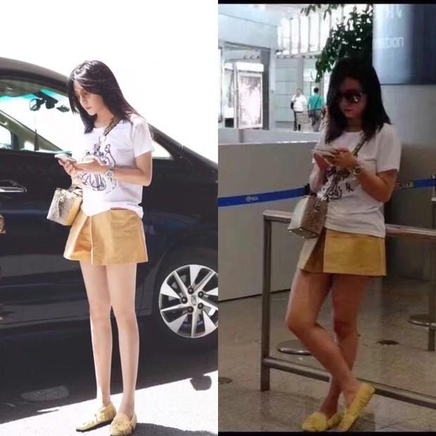 Triệu Vy, Dương Mịch, Angela Baby... bị bóc mẽ đôi chân thiếu nuột nà trong loạt ảnh trước và sau photoshop - Ảnh 3.