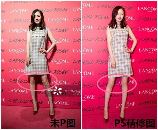 Triệu Vy, Dương Mịch, Angela Baby... bị bóc mẽ đôi chân thiếu nuột nà trong loạt ảnh trước và sau photoshop - Ảnh 5.
