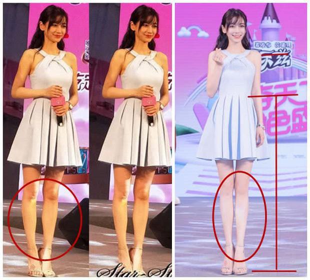 Triệu Vy, Dương Mịch, Angela Baby... bị bóc mẽ đôi chân thiếu nuột nà trong loạt ảnh trước và sau photoshop - Ảnh 6.
