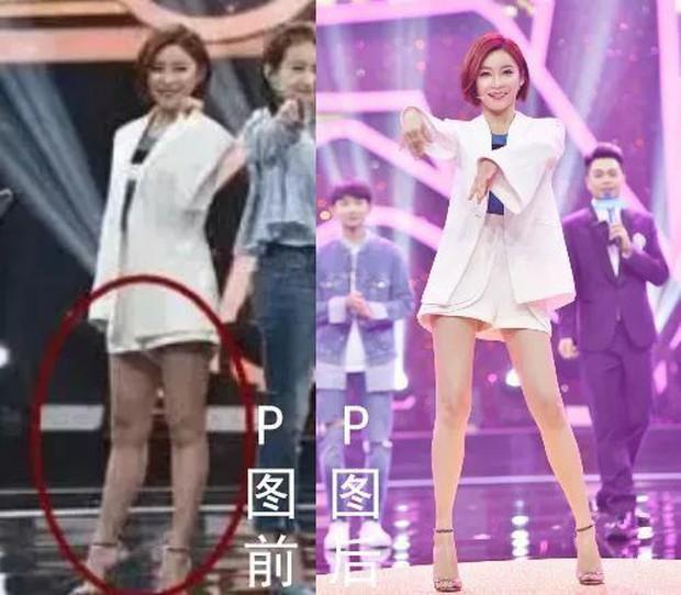 Triệu Vy, Dương Mịch, Angela Baby... bị bóc mẽ đôi chân thiếu nuột nà trong loạt ảnh trước và sau photoshop - Ảnh 7.
