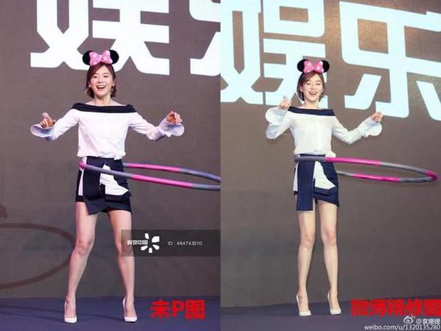 Triệu Vy, Dương Mịch, Angela Baby... bị bóc mẽ đôi chân thiếu nuột nà trong loạt ảnh trước và sau photoshop - Ảnh 8.