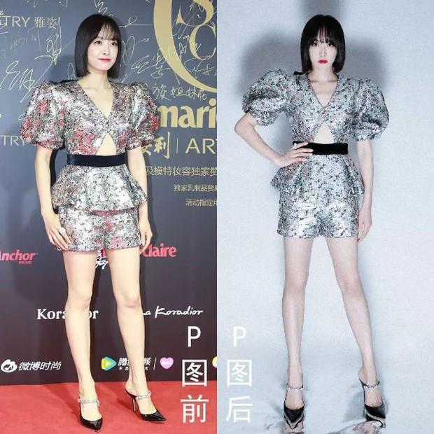 Triệu Vy, Dương Mịch, Angela Baby... bị bóc mẽ đôi chân thiếu nuột nà trong loạt ảnh trước và sau photoshop - Ảnh 11.