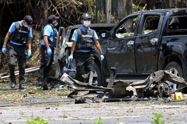 Đánh bom tại miền Nam Thái Lan, 2 cảnh sát bị thương  - Ảnh 1.